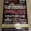 Summer Slaughter 2012 signed tour poster