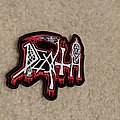 Death - white/red logo patch
