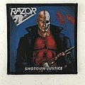Razor - Shotgun Justice woven patch