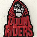 Doomriders shaped embroidered patch