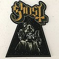 Ghost shaped woven patch