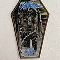 Convulse - World Without God woven patch coffin