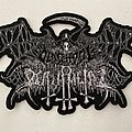 Pull The Plug Patches — Old School Death Metal shaped woven patch