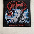 Obituary — Cause of Death woven patch