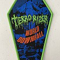 Terrorizer - Patch - Terrorizer — World Downfall woven patch coffin
