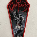 Obituary coffin woven patch