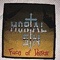 Mortal Sin - Patch - Mortal Sin-Face Of Despair VTG Patch