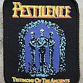 Pestilence-Testimony of the ancients,printed patch,1991
