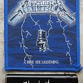 Metallica-Ride the Lightning,1st edition,blue bordered patch,1984