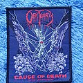 Obituary - Patch - ONLY FOR REVIEW!!! Obituary-Cause of Death patch, 1990