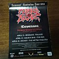 Morbid Angel 2014 Covenant Australian Tour Poster Other Collectable