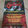 Obituary 2013 Australian Tour Poster Other Collectable