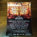 Cannibal Corpse 2014 September Australian Tour Poster Other Collectable