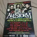 Alestorm 2013 Australian Tour Poster Other Collectable