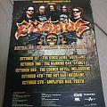 Exodus 2010 Australian Tour Poster Other Collectable