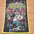 Anthrax Yellow Border Woven Patch