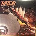 Razor - Tape / Vinyl / CD / Recording etc - Razor  – Malicious Intent  (Clear LP)