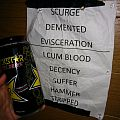 Cannibal Corpse Set list & water can Other Collectable