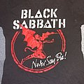 Black Sabbath never say die shirt