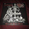 "Necroholocaust / Satanik Goat Ritual ""Rites of Black Blood"" split 10"" Tape / Vinyl / CD / Recording etc"