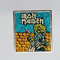 Iron Maiden - Pin / Badge - Square glitter metal pin