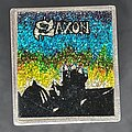 Saxon - Pin / Badge - Square glitter metal pin Power and the glory