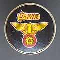 Saxon - Pin / Badge - Wheels of steel Prism pin