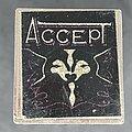 Accept - Pin / Badge - Square glitter metal pin