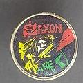 Saxon - Pin / Badge - Prism pin
