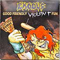 EXODUS Good Friendly Violent Fun white/blue/red splatter Original Vinyl