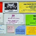 Old Concert Tickets From The 80´s and 90´s