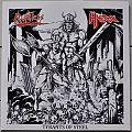 "Hexx/Ruthless Tyrants Of Steel 7"" Split Clear Vinyl"