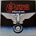 Saxon ‎– Wheels Of Steel Swirl Vinyl
