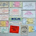Old Concert Tickets From The 80´s