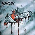 RAZOR Violent Restitution Grey/Red Splatter Original Vinyl
