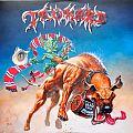 TANKARD Beast Of Bourbon Original blue/red/white splatter Vinyl