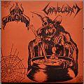 "NunSlaughter / Gravewürm Split 7"" Original Orange/Black Splatter Vinyl"
