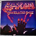 Saxon ‎– Power & The Glory Blue/Purple Swirl Vinyl