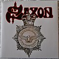 Saxon ‎– Strong Arm Of The Law White Splatter Vinyl