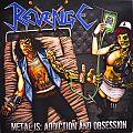 REVENGE Metal Is: Addiction And Obsession Original Orange Splatter Vinyl