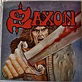 Saxon ‎– Saxon Blue W/ Red Splatter Vinyl