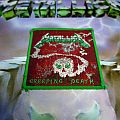 Metallica Creeping Death official woven patch, green border and pattern version