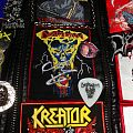 Patch - Destruction - Infernal Overkill bootleg patch with Mike's signature and Schmier's pick