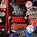 Black Sabbath vintage electroplate plastic brooch Pin / Badge