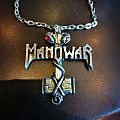 Manowar vintage pendant Pin / Badge