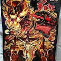 Mercyful Fate leather embossment + carved backpatch