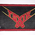 Toxik - Think This Strip - Red Border  Patch