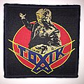 Official Woven Toxik - World Circus Patch - Dark Blue border
