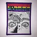 Vintage 70s woven rainbow patch