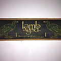 Woven Lamb of god strip Patch